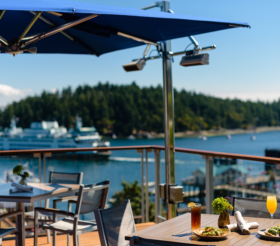 Dinner with a View of friday harbor